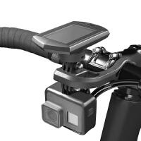 自行车支架码表底座摄像机挂架角度可调节车灯手机延伸支架