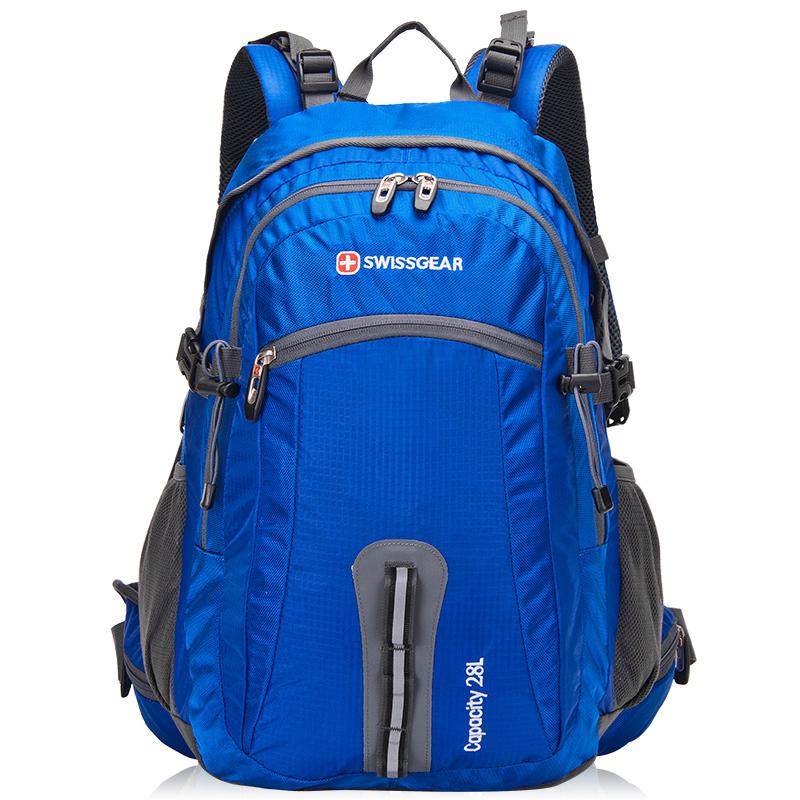 瑞士军刀中性宝蓝色28L户外休闲运动登山双肩背包JP3028LS
