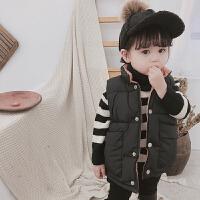 儿童马甲加厚冬季2018新款女童立领休闲宝宝上衣羽绒棉外套