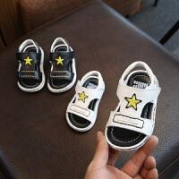 真皮宝宝凉鞋夏季软底婴儿学步鞋子透气不闷脚男童沙滩鞋