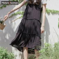 【1件4折到手价:67.6】美特斯邦威连衣裙女夏季新款很仙的韩版吊带连衣裙超火cec裙