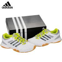 阿迪达斯adidas羽毛球鞋男女运动鞋透气防滑训练鞋 B26432白灰色