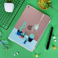 ipad air2休眠超薄保护套10.5寸苹果pro9.7mini4新ipad硬壳 mini123 仙人球(硬)