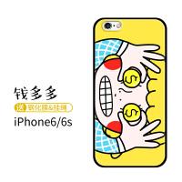 日系漫画晴空酱苹果8plus手机壳iphone7欧美冷淡风x超薄xs新款max套xsmax全包边xr 苹果6/6s 钱