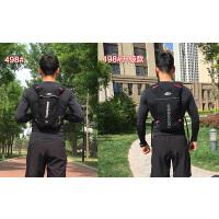 骑行背包双肩包骑行包男 女越野跑步背包马拉松水袋背包超轻不晃 498#升级款 红色+2L水袋