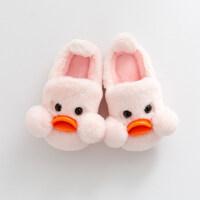 2018新款儿童棉拖鞋 宝宝棉鞋 男童室内毛毛女可爱冬天保暖防滑