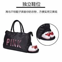 亮片健身包短途旅行包女士手提包运动包大容量行李袋