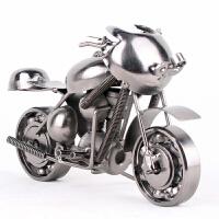 中号铁艺太子摩托车模型 金属手工时尚摆件 复古