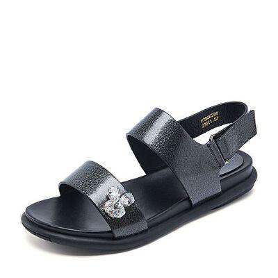 Belle/百丽夏季专柜同款人造革女凉鞋R5G2DBL7