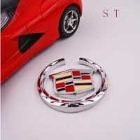 凯迪拉克车标侧标尾标装饰金属车贴XTS SLS CTS ATSL改装V字英文标字母标 凯迪拉克 侧标一对