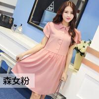 韩版时尚孕妇装春夏新款孕妇短袖上衣孕妇衬衫花瓣袖孕妇连衣裙子99