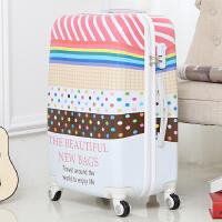 韩版糖果彩虹色拉杆旅游箱PC镜面20/24寸万向轮行李箱男女登机箱
