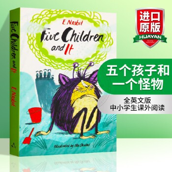 五个孩子和一个怪物 英文原版小说 Five Children and It 五个孩子和沙精 哈利波特作者JK罗琳推荐 英文版儿童文学读物 正版进口书 全英文版 中小学生课外阅读