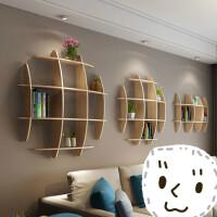 墙壁客厅墙面书架壁挂墙上电视背景墙置物架墙体创意装饰挂壁实木