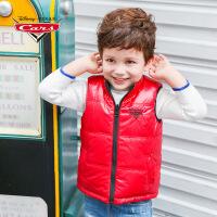 【促】迪士尼赛车总动员童装男童冬装2018秋冬新品红黑双面穿厚马甲棉背心