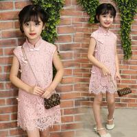 童装女童连衣裙夏装儿童公主裙中大童女装蕾丝旗袍裙子潮