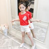 女童套装运动儿童短袖夏装新款童装宝宝洋气夏季女大童两件套