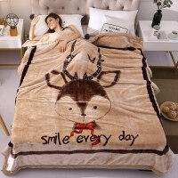 云毯双层加厚秋冬毛毯单人午睡珊瑚绒毯子学生宿舍保暖盖毯 200x230cm【 超柔云毯可机洗】