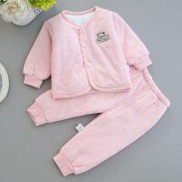 0婴儿保暖内衣套装1男宝宝3岁儿童2外穿幼儿女童加绒加厚纯棉衣服