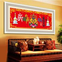 家居家居5D钻石画点钻石十字绣新款客厅六字真言藏族刺绣钻石绣帖钻砖石画 图片色