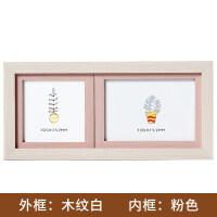家居生活用品创意韩版婚纱照宝宝相框摆台影楼像框挂墙5寸6寸7寸横版照片组合