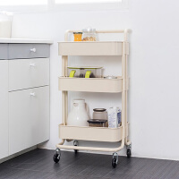 【满199减120】ORZ 厚制大容量北欧风铁艺置物车 浴室可移动洗漱收纳架厨房层架