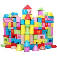 可啃咬积木0-1-2周岁以下男宝宝玩具婴儿6-12月早教女孩实木