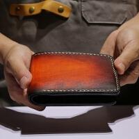 有米高端手工钱包真新款时尚植鞣革刻字定制手包男女短款夹