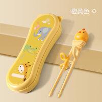 学习筷婴幼儿初学用筷子婴儿童餐具训练筷子家用小孩宝宝吃饭勺子叉学习练习套装男孩一段A