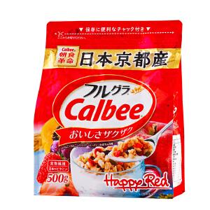 【领券2袋减20元】日本进口卡乐比calbee水果麦片500g 网红儿童早餐即食谷物
