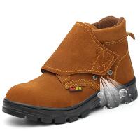 电焊工劳保鞋钢包头防烫男高帮防砸防刺穿冬季透气防臭轻便工作鞋