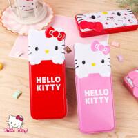 女生凯蒂猫铅笔盒铁盒双层可爱创意文具盒HelloKitty笔盒文具盒