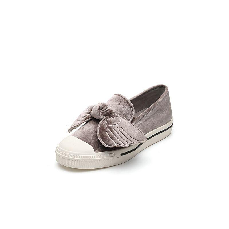 Teenmix/天美意2017专柜同款丝绒麋鹿翅膀乐福鞋女鞋YFZ07CM7炫舞联名款