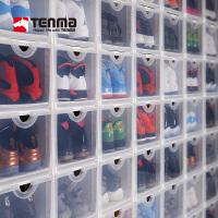 Tenma天马株式会社塑料蜈蚣精鞋盒自由组合抽屉式透明收纳防尘简易男女AJ球鞋盒