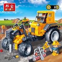 【小颗粒】邦宝拼插积木益智教育儿童玩具工程系列路面钻孔机8537