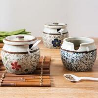 陶瓷调料罐厨房味精调味罐家用调料盒调味料罐装盐的调味盒调料瓶