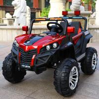 ?儿童电动车四轮越野汽车遥控可坐人宝宝车子1-3岁4-5小孩车玩具车 +防爆轮