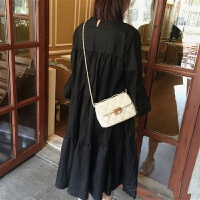 小香风菱格链条包2018春季新款韩版菱格手提包小包包单肩斜跨女包