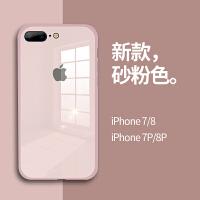 苹果8plus手机壳iphone7液态硅胶6sp新款马卡龙玻璃7plus全包防摔套8p软壳七男潮牌6p网红6女6splu
