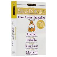莎士比亚四大悲剧 现货英文原版 Four Great Tragedies 哈姆雷特 奥赛罗 李尔王 麦克白 经典名著 进