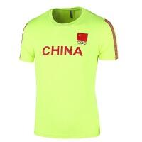 夏季新款国家队短袖T恤男篮球运动跑步健身训练舒适透气速干短袖T恤 M(160c