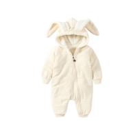 婴儿连体衣服0岁1个月3女宝宝男新生儿长袖春秋装冬季卫衣外出服6