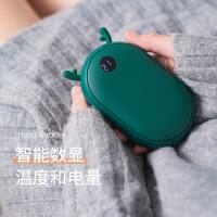 新款鹿角暖手宝充电宝 创意USB暖宝宝圣诞暖手宝移动电源礼品