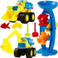沙滩玩具套装决明子挖沙挖掘机工程车宝宝沙子戏水铲子儿童工具