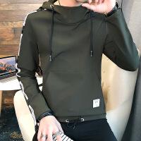 长袖T恤男秋季2018新款男士卫衣打底衫套头外套韩版潮流个性衣