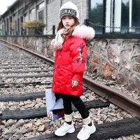 女童棉衣2018新款冬装韩版童装女孩棉袄加厚中长款儿童女洋气