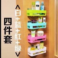卫生间置物架壁挂浴室化妆品收纳置物架吸盘三角厕所免打孔洗手间c
