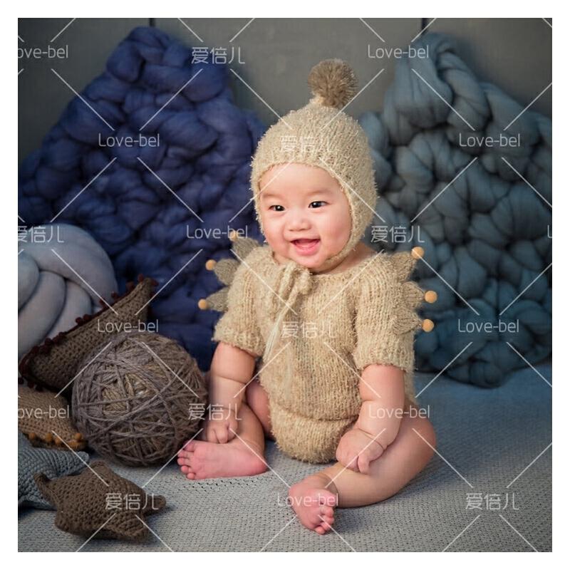 新款套装 新生儿百天摄影套装 新款小宝宝手工毛线拍照衣服 发货周期:一般在付款后2-90天左右发货,具体发货时间请以与客服协商的时间为准