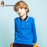 【159元选2件】暇步士童装春季新款男童POLO衫纯棉长袖T恤儿童POLO衫