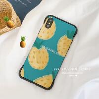 水果插画苹果x手机壳iphone8plus保护套xs max蜜桃xr/7无边设计 6/6s 菠萝